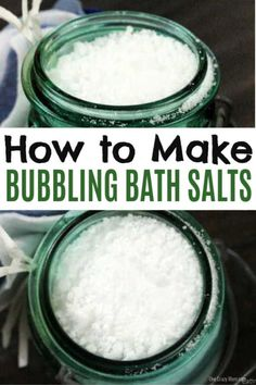 Try this easy homemade bath soak. These DIY Homemade bath salts recipes are simp. Try this easy homemade bath soak. These DIY Homemade bath salts recipes are simple to make. This Homemade bat Bath Bomb Recipes, No Salt Recipes, Diy Bath Salts With Essential Oils, Best Diy Bath Salts, Diy Bubble Bath Salts, Homemade Bath Salts, Bubble Baths, Best Natural Hair Products, Lush Products