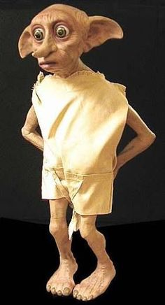 Life-size Dobby Figure Harry Potter and the Chamber of Secrets - ImpaQt FX Cumpleaños Harry Potter, Believe In Magic, Sewing Dolls, Fairy Art, Fantastic Beasts, Fantasy World, Troll, Disney Characters, Fictional Characters