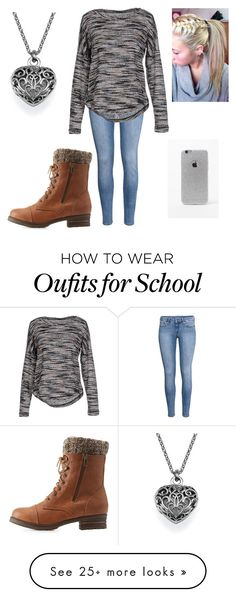 """""""Perfect school outfit"""" by kucherawyd on Polyvore featuring H&M, ONLY, Charlotte Russe, LA: Hearts, women's clothing, women's fashion, women, female, woman and misses"""