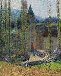 Henri Martin - The Church of Labastide-du-Vert, Late Afternoon, Impressionism Paintings, Artwork 5