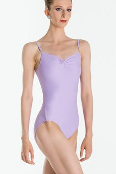 ABBIE - Abbie is a Wear Moi microfiber basic, simple and elegant camisole leotard with a mid-back profile, Fully front lined. Available in 16 colors. #wearmoi #ballet  #leotard