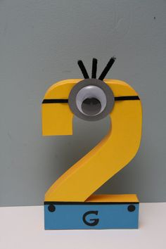 Despicable Me Minion Paper Mache Letter--***Now Available in Purple*** Minions Birthday Theme, Minion Party Theme, Despicable Me Party, 4th Birthday Parties, Birthday Fun, Birthday Ideas, First Birthdays, Etsy, Paper Mache