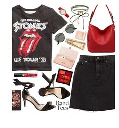 """""""Band T-Shirt 26-7-2017"""" by anamarija00 ❤ liked on Polyvore featuring Aspinal of London, MKF Collection, Ray-Ban, Accessorize, NYX, Too Faced Cosmetics, Gucci, Elizabeth Arden, Jouer and Skagen"""