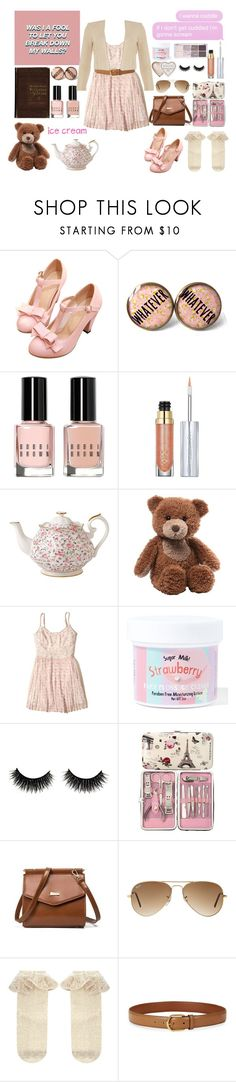 """""""Teddy Bears and Ice Cream"""" by psycho-tsundere-fox ❤ liked on Polyvore featuring Bobbi Brown Cosmetics, Urban Decay, Royal Albert, Gund, Hollister Co., Sugar Milk Co, Ray-Ban, Monsoon, Lauren Ralph Lauren and Phase Eight"""