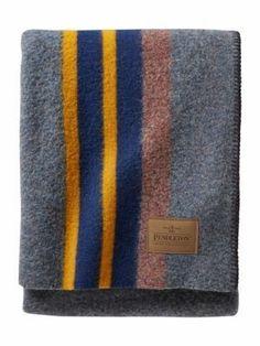 Pendleton Camp Wool Blanket Lake Throw Blanket