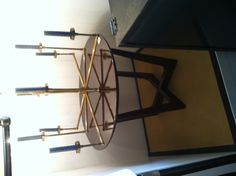 side table & chandelier; empiric