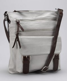 Take a look at this Punto Uno Chalk Messenger Bag by Summer Excursion: Bags & Scarves on #zulily today!