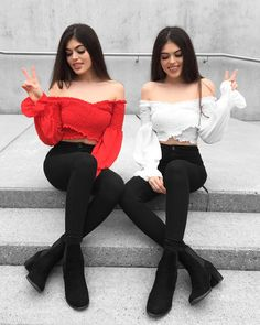 😍 Matching Outfits Best Friend, Best Friend Outfits, Classy Outfits, Trendy Outfits, Cute Outfits, Twin Outfits, Outfits For Teens, Stylish Photo Pose, Tumbrl Girls