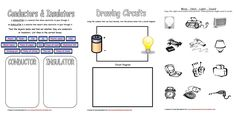 I am just starting to teach my younger girls about electricity and circuits. I was looking through my files and I came across some of the worksheets I created 5 years ago for my son. They are a bas… Printable Preschool Worksheets, Science Worksheets, Science Curriculum, Worksheets For Kids, Teaching Science, Science For Kids, Science Activities, Steam Activities, Teaching Ideas