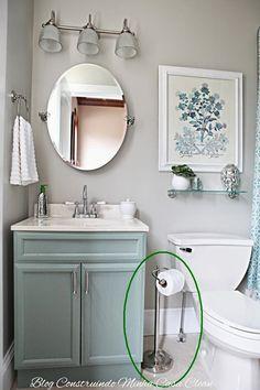 Construindo Minha Casa Clean: Banheiros e Lavabos Pequenos!!! Saiba como Decorar!