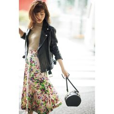 pattern_1 Japan Fashion, Office Outfits, Soft Classic, Stylish, Skirts, Pattern, Leather, How To Wear, Jackets