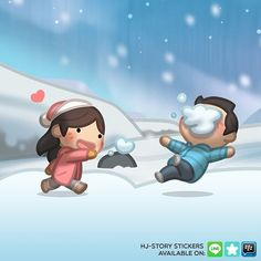There's no snow in Korea this year, but there's snow in HJ-Story :) #linesticker #hjstory #love #winter