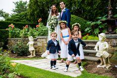 Lindsay Talbot and Christopher Bateman Wedding vogue elegant timeless ceremony decor Vogue Weddings flower girls pageboys outfits english garden weddings iconic style