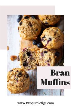 These Bran Muffins are the perfect breakfast muffin! The classic Raisin Bran Muffins get blueberries = The best Bran Muffins recipe ever!