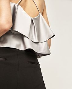 Image 5 of GLOSSY TOP from Zara