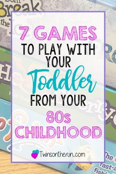 Getting ready to expand your game shelf and make play time more interesting! Grab a game from your 80s childhood so you can remember the good days while having fun with your toddlers, preschoolers or elementary age kids! #gametime #gamesforkids #80schildhood #80skid #familygames #familygamenight