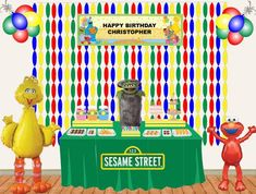 sesame street dessert table