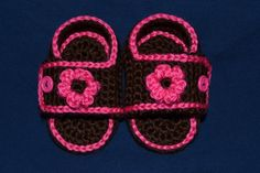Brown and Pink Sport Baby Sandals by ramseyworld on Etsy, $10.00