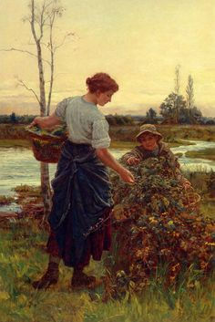 ''The Harvest'' Frederick Morgan (1847-1927)