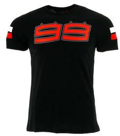 72f29340 Jorge Lorenzo 99 Moto GP Large Logo Black T-shirt Official 2017