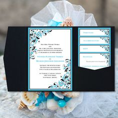 wedding pocketfold invitation template diy wedding invitation