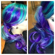 Purple hair - page 27 of 59 free hair color pictures) Pastel Purple Hair, Teal Hair, Ombre Hair, Turquoise Hair, Black Hair, Funky Hairstyles, Weave Hairstyles, Pretty Hairstyles, Updo Hairstyle