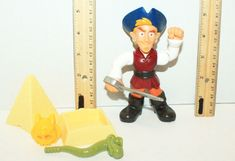 CAPTAIN FLYNN - DISNEY TV JAKE & THE NEVERLAND PIRATES BUCCANEER TOY FIGURE 2014 #FisherPrice