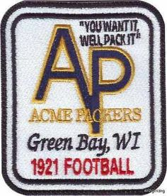 ACME PACKING COMPANY PATCH,ESTABLISHED 1921 PACKERS
