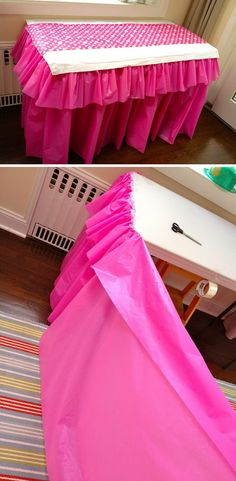 Easy and Inexpensive Ruffled Tablecloth.
