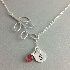 Hey, I found this really awesome Etsy listing at https://www.etsy.com/listing/110755375/october-birthstone-monogram-necklace