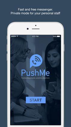 In pochi mesi, con la versione 2.0 per Apple  PushMe Messenger è diventato il Messenger più performante. Scaricalo e condividilo con gli amici.  Diventa anche tu co-proprietario dell'applicazione. www.pushmeapp.org vers. Apple e Android.  #PushMeGeneration #PushMeMessenger