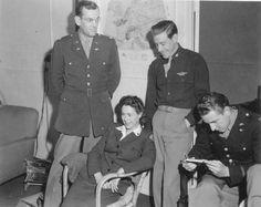 Glenn Miller at Thorpes Abbott Field, Norfolk, England. 1944.