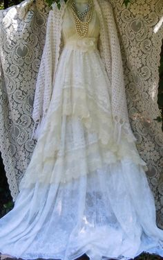Hey, I found this really awesome Etsy listing at https://www.etsy.com/listing/200477305/ivory-lace-dress-wedding-tiered-lace