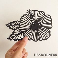 Hibiscus Flower Fine Paper, Paper Art, Paper Crafts, Kirigami, Chrismas Cards, Laser Paper, Wooden Christmas Ornaments, Flower Graphic, Papercutting