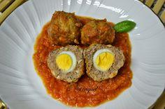 Mi Diversión en la cocina: Albóndigas Rellenas con Huevo de Codorniz en Salsa