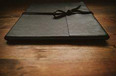 leather bound albums // simple, elegant, rustic. LEGEND ALBUM. Woodland Albums. www.woodlandalbums.com