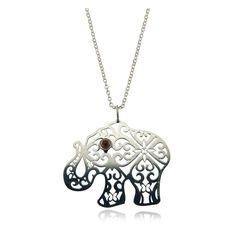 Dije Talismán Elefante de Plata con Granate Silver, Stuff To Buy, Jewelry, Garnet, Silver Jewellery, Elephants, Jitter Glitter, Quilling, Slip On