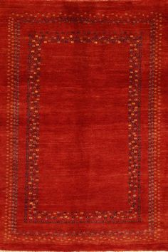 Red Comfort Gabbeh Wool Rug GB-15 $222.00