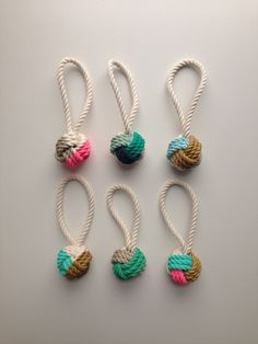 Hand-Painted Monkey's Fist Knot Ornaments - Made by Cassandra Smith //Manbo