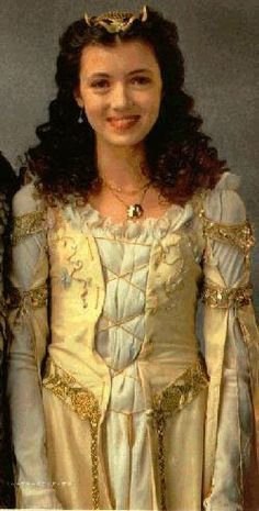 White Lili - Legend (1985) by Ridley Scott, with Mia Sara as Lily and costume design by Charles Knode