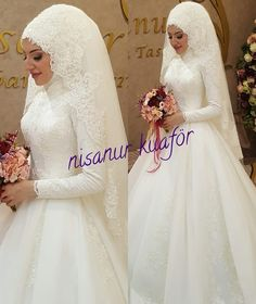 Tesettür Giyim ( 7706 Likes 30 Comments ) Muslim Wedding Gown, Muslimah Wedding Dress, Muslim Wedding Dresses, Muslim Brides, Wedding Hijab, Bridal Wedding Dresses, Wedding Attire, Wedding Bride, Bridal Hijab