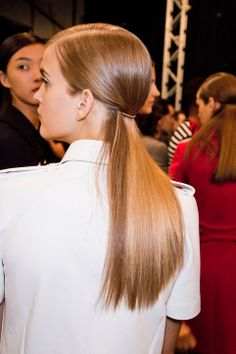 low ponytails at michael kors