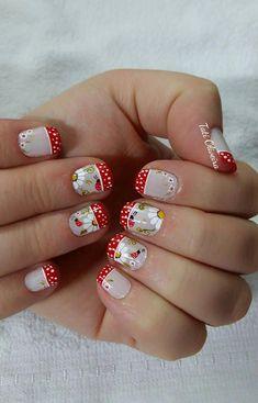 Unhas francesinhas para inspirar, veja mais de 35 modelos no site diseños d Toe Nail Art, Acrylic Nails, Summer Toe Nails, Short Nails Art, Pedicure, Nail Art Designs, Nail Polish, Hair Beauty, Fancy