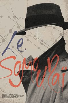 Brandon Schaefer poster for Le Samourai Jean-Pierre Melville