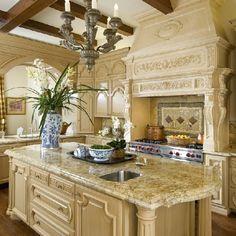 Dream Kitchen French Classical House in Highland Park TX dfw interior design kitchen