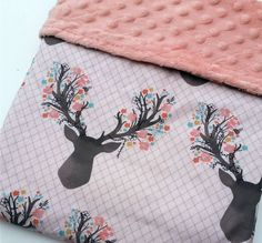 Hey, I found this really awesome Etsy listing at https://www.etsy.com/listing/262824421/baby-blanket-minky-baby-blanket-deer