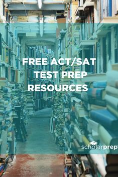 Worried about test prep breaking the bank Free ACT/SAT Test Prep Resources Free Act Prep, Sat Test Prep, Sat Math Prep, Sat Preparation, Sat Study, College Test, College Life, Act Math, College Planning