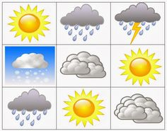 Paulieandme: Weather Bingo Cards #montessori