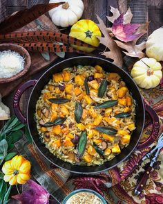 Squash and Chestnut Orzotto with Brown Butter Sage | The Lemon Apron