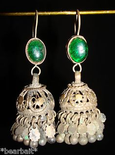 Old Kuchi Tribal Ethnic Jewelry Earrings Bellydance Nomadic Gypsy ATS VE11161 | eBay